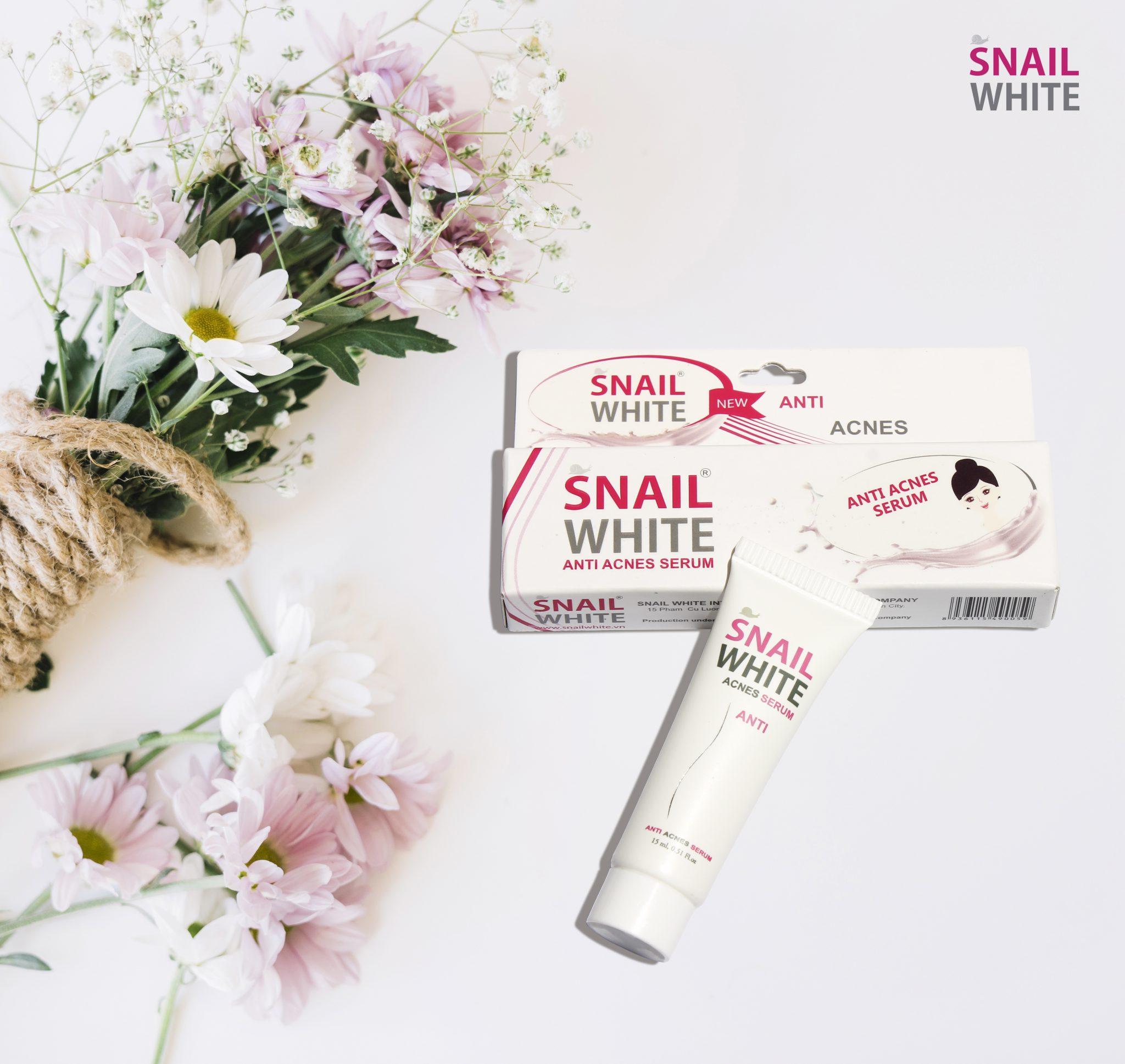 Sạch mụn siêu tốc 24h - SNAIL WHITE Anti Acnes Serum - 8936115490050